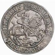 1 Thaler - Christoph II, Johann Albrecht I & Bruno II – obverse