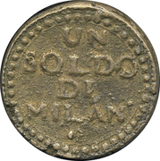 1 Soldo (Siege coinage) – reverse