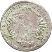 3 Kreuzer - Ferdinand I – reverse