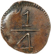 ¼ Real - Fernando VII (Royalist coinage) – reverse