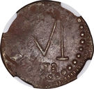 ½ Real - Fernando VII (Royalist coinage) – reverse