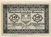 50 Heller (Marbach) – obverse