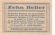 10 Heller (Marchtrenk) -  reverse