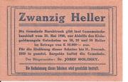 20 Heller (Marchtrenk) -  reverse