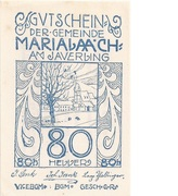 80 Heller (Maria  Laach) – obverse