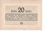 20 Heller (Maria-Schmolln) -  reverse