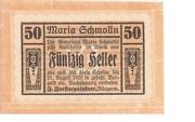 50 Heller (Maria-Schmolln) – obverse
