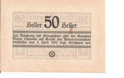 50 Heller (Maria-Schmolln) – reverse