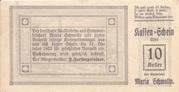 10 Heller (Maria-Schmolln) – reverse