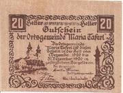 20 Heller (Maria-Taferl) -  obverse