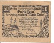 50 Heller (Maria-Taferl) – obverse