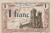 1 Franc - Chambres de Commerce de la Marne – obverse