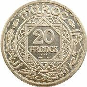 """20 Francs - Mohamed V (Essai; with """"Essai"""") – reverse"""