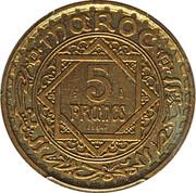 5 Francs - Mohammed V (Essai) -  reverse