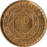 50 Francs - Mohammed V -  reverse