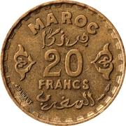 20 Francs - Mohamed V -  reverse