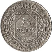 5 Francs - Mohammed V – reverse