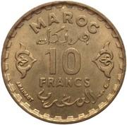 10 Francs - Mohammed V -  reverse