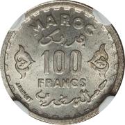 100 Francs - Mohammed V – reverse