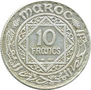 10 Francs - Mohammed V – reverse