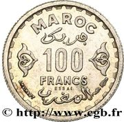 100 Francs - Mohammed V (Essai) – reverse