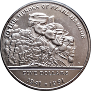 5 Dollars (To the Heroes of Pearl Harbor) – reverse
