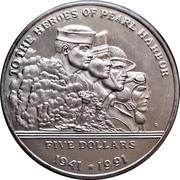 5 Dollars (Pearl Harbor) – reverse