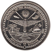 5 Dollars (Pacific Whales and Dolphins) – obverse