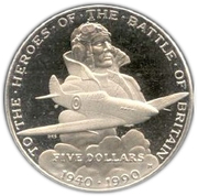5 Dollars (To the Heroes of the Battle of Britain) – reverse