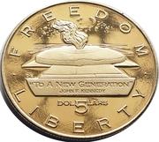 5 Dollars (JFK - To A New Generation) – reverse