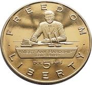 5 Dollars (JFK - Meet Any Hardship) – reverse