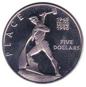 5 Dollars (Peace) – reverse