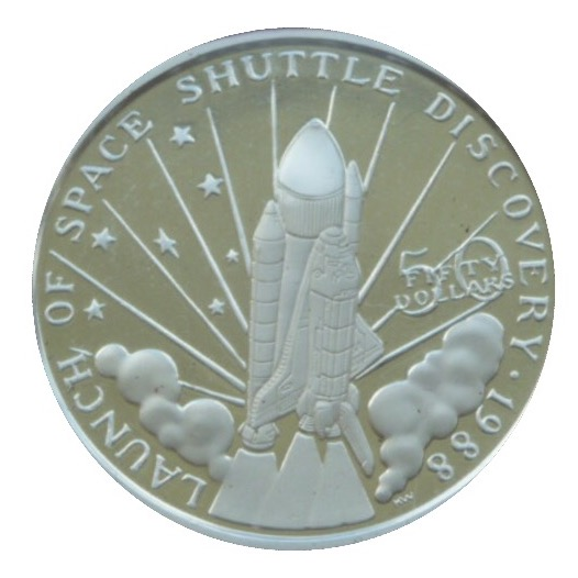 launch of space shuttle discovery 1988 coin worth - photo #37