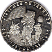 5 Dollars (First Men on the Moon) – reverse