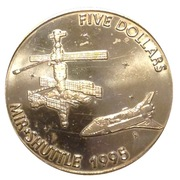 5 Dollars (MIR - Shuttle) – reverse