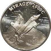5 Dollars (Mirage 2000C Jet Fighter) – reverse