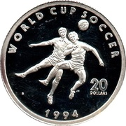 20 Dollars (World Cup Soccer) – reverse