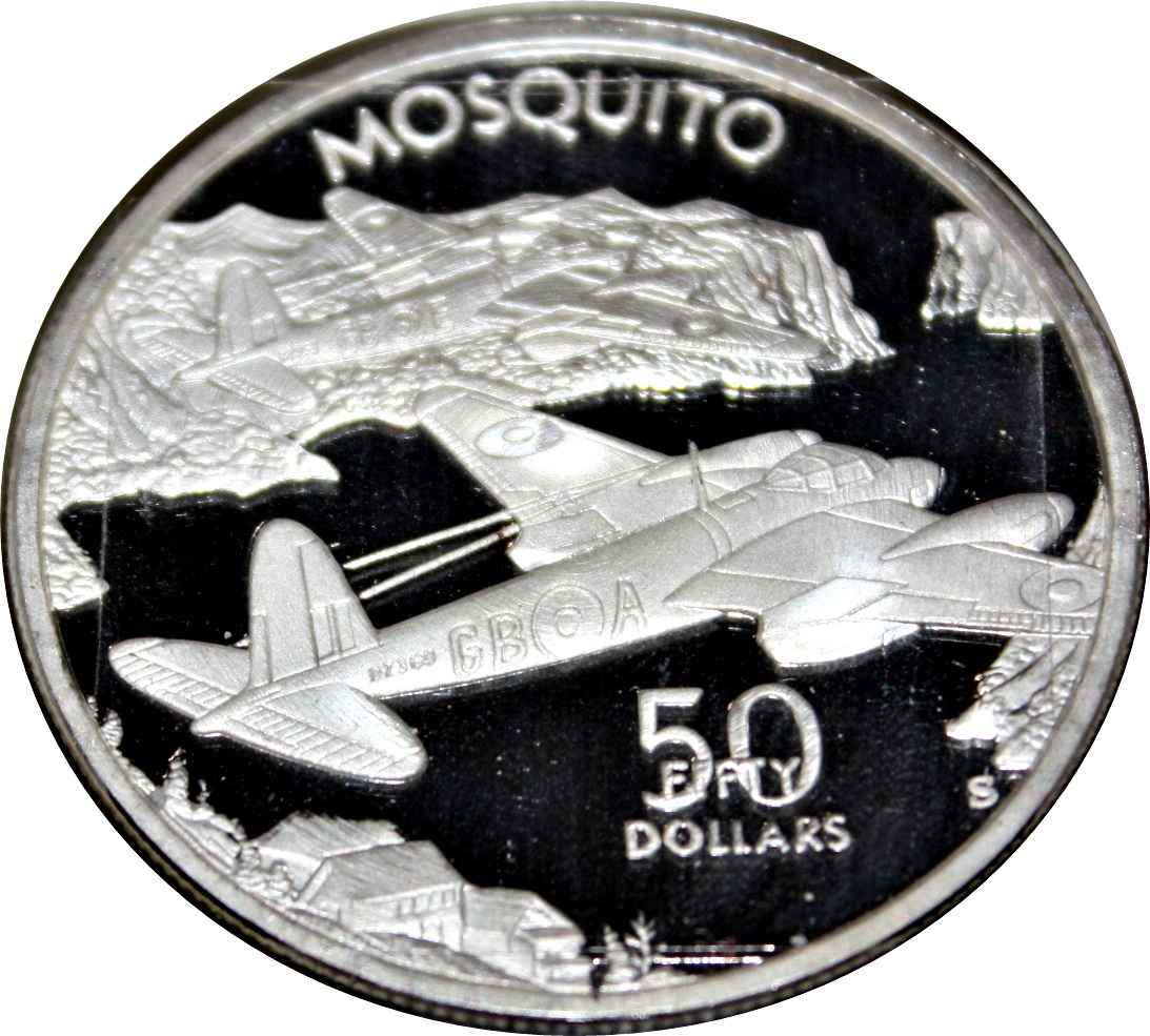 Details about  /1991 MARSHALL ISLANDS $50 Dollars A6M Reisen Aircraft WWII Silver Proof Coin