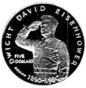 5 Dollars (Dwight David Eisenhower) – reverse