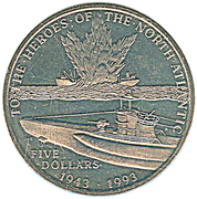 5 Dollars (To the Heroes of the North Atlantic) – reverse