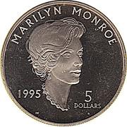 5 Dollars (Marilyn Monroe) – reverse