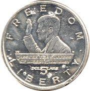5 Dollars (JFK - Assure The Success of Liberty) – reverse