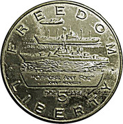 5 Dollars (JFK - Oppose any Foe ) – reverse