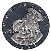 5 Dollars (Christmas 1993) – reverse
