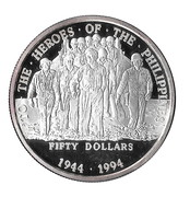 50 Dollars Heros of the Philippines – reverse