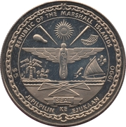 5 Dollars (German Unification) – obverse