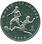 5 Dollars (World Cup Soccer) – reverse