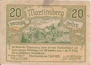 20 Heller (Martinsberg) – obverse