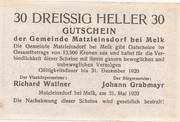 30 Heller (Matzleinsdorf) -  reverse