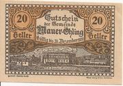 20 Heller (Mauer-Öhling) – obverse